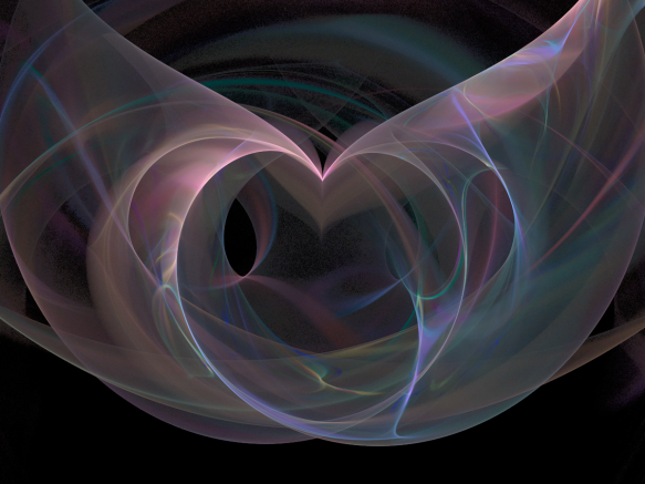 Part heart, part wings, part smoke, all fractal.