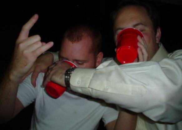 Frat boys know how to handle their liquor