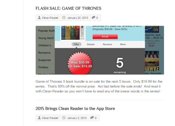"""BUY THE GAME OF THRONES BOOKS AND READ THEM WITHOUT THE SWEAR WORDS."""