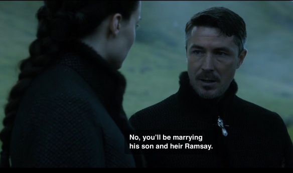 Littlefinger says to Sansa: