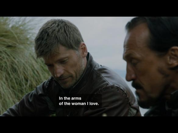 Bronn asks how Jaime would prefer to die. Jaime answer: