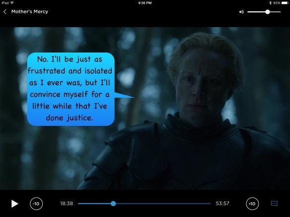 Brienne, my speech bubble: