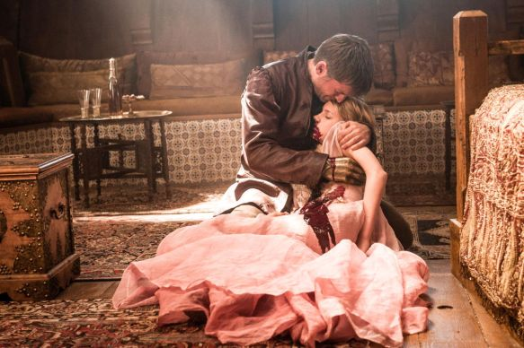 That's a very dead Myrcella slumped on the floor in Jaime's arms.