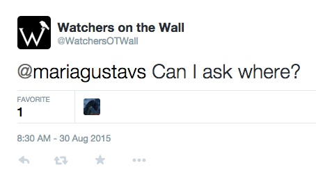 Watchers on the Wall Tweets: