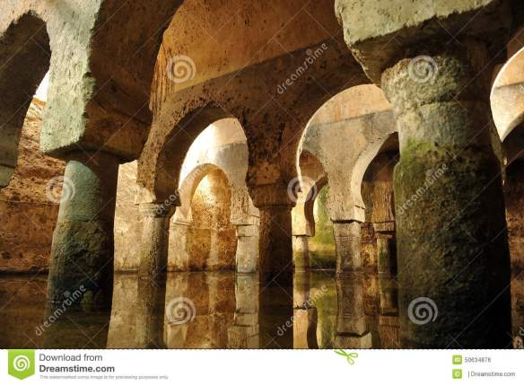 arabic-cistern-underground-water-tank-caceres-extremadura-spain-collecting-rainwater-medieval-city-50634876