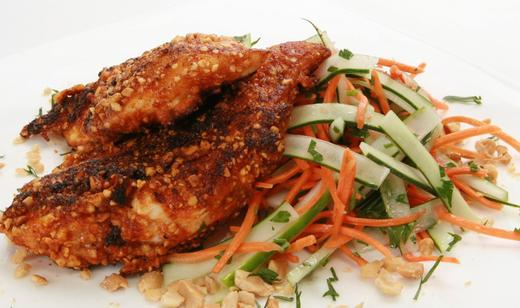 florida-peanut-crusted-chicken-with-carrot-cucumber-salad_recipe